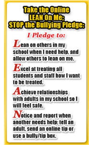 LEAN on ME; Stop the Bullying! Pledge