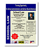 Training Opportunity for School Administrators and Board Attorneys