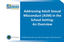 Addressing Adult Sexual Misconduct in the School Setting: An Overview