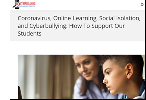 Coronavirus, Online Learning, Social Isolation, and Cyberbullying