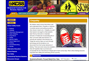 KCSS Empathy Website Page