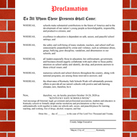 KY Safe Schools Week Proclamation