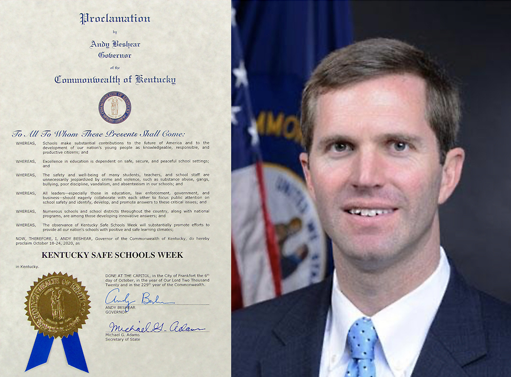 Governor signs KY Safe Schools Week Proclamation